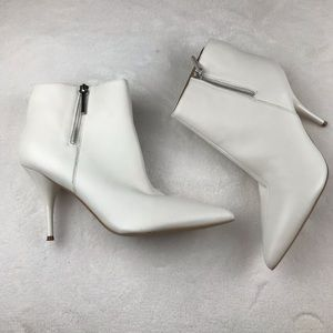 Marc Fisher butter soft white leather booties